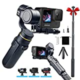 3-Axis Action Camera Gimbal Stabilizer Compatible with GoPro Hero 10/9/8/7/6/5, OSMO Action,Insta360 ONE R,9H Battery Life, with Tripod and Extension Rod Kits,INKEE Falcon