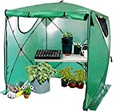 Kradl 2 Minute, Portable Greenhouses for Outdoors | Pop Up Greenhouse Kit | Portable Canopy for Plants 69 x 69 x 81 Inches