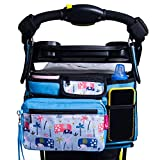 Good Fruit Co. Brand   Universal Fit Stroller Organizer Bag for Single and Double Strollers with Insulated Cup Holders, Extra Storage Mesh Bag, Phone Holder and Durable Straps. An Organizer Caddy with a No Slip Secured Fit.