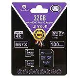 Amplim TF Card 32GB Micro SD Card 2 Pack Plus Adapter. High Speed 32 GB Class 10 MicroSDHC Micro SDHC Mini SD Memory Card for Nintendo, Android Phone Samsung LG Moto, GoPro Hero, Drone, Roku, Cameras