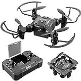 4DRC V2 Mini Drone for Kids Toys Gift,Nano Pocket Foldable RC Quadcopter with 3 Batteries,Altitude Hold, Headless Mode, 3D Flips, One Key Return, 3 Speed Modes, Easy Fly for Beginners Boys Girls