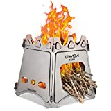 Lixada Camping Stove,Portable Folding Wood Stove Lightweight Titanium Alcohol Stove for Outdoor Cooking Backpacking Stove