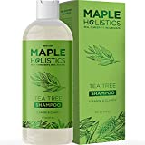 Pure Tea Tree Oil Shampoo - Tea Tree Shampoo for Oily Scalp and Clarifying Shampoo for Oily Hair Care - Deep Cleansing Shampoo for Greasy Hair and Flaky Scalp Cleanser for Build up with Essential Oils