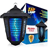 Livin Well Electric Bug Zapper Outdoor, Mosquito Zapper, Insect Killer Fly Traps, Hanging Bug Light for Patio, XL 20W UV Bulb 20,000 Sqft Range, Long 6' Power Cord