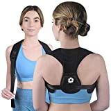 Posture Corrector Upper Back Brace - Back Straightener for Neck Hump, Scoliosis - Stop Slouching Trainer for Perfect Straight Back - Wearable Under Clothes - for Women and Men - One Size