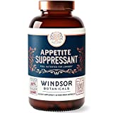 Appetite Suppressant for Weight Loss - Windsor Botanicals High-Potency Formula - Feel Fuller Faster and Satisfied for Longer - Rapidly Absorbed, Natural Extracts - 60 Vegetarian Capsules