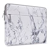 MOSISO Laptop Sleeve Compatible with 13-13.3 inch MacBook Pro, MacBook Air, Notebook Computer, Marble Pattern Carrying Case Bag Cover, White
