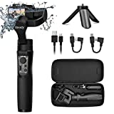 Hohem Gopro Gimbal 3-Axis Handheld Gimbal Stabilizer Splash Proof Pro for Gopro Hero 7/6/5/4/3 DJI Osmo Action Yi Cam 4K, AEE, SJCAM Sports Cams APP Controls for Time-Lapse, Tracking, Auto Panoramas