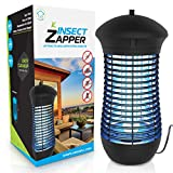 Electric Bug Zapper Mosquito Trap - Mosquito Killer with Insect Zapper Outdoor / Indoor Hook, 18W UVA Bug Zappers Lamp and 4000V Mosquito Zapper Grid