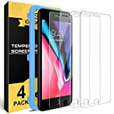 [4 Pack] For iPhone 8 / iPhone 7 Screen Protector Nearpow [Tempered Glass] Screen Protector with [9H Hardness] [Crystal Clear] [Easy Bubble-Free Installation] [Scratch Resist]