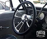 Billet Muscle Compatible with Chevy GMC 69-94 Steering Wheel Set Engraved Horn