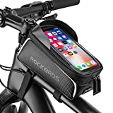 Bike Phone Front Frame Bag Bicycle Bag Waterproof Bike Phone Mount Top Tube Bag Bike Phone Case Holder Accessories Cycling Pouch Compatible with iPhone 11 XS Max XR Fit 6.5""
