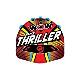 WOW Watersports Thriller Deck Tube Water Towable Tube Inflatable Boat Tube, Wild Wake Action - Water Sports Inflatables - Towable Tube for Boating 2 Person