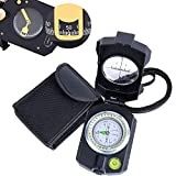 Sportneer Lensatic Military Compass with Clinometer, Waterproof Multifunctional Survival Compasses with Distance Calculator, Pouch for Camping, Hiking, Backpacking, Boy Scout,Navigation, Boating