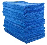 Zwipes 606-13 13 Pack Large Microfiber Cloth, Ultra Plush & Absorbent, Perfect Cleaning, Wash or Car Detailing-16 x 16' (12 Towels + 1 Free), 13 Pack