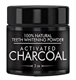 Activated Charcoal Natural Teeth Whitening Powder (2 oz) Highest Quality & Pharmaceutical Grade, Vegan & Gluten-Free by Earthborn Elements