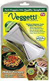 Ontel Veggetti Spiral Vegetable Cutter, Makes Veggie Pasta
