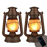 Yinuo Candle Flame Light Vintage Lantern,Flickering Camping Lantern Tent Light with Two Models Night Lights Led Decor for Patio Garden Party Outdoor or Indoor with Remote Control Battery Operated