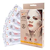 Vitamin C Brightening Sheet Mask - Vitamin C Sheet Mask for Anti Aging - Dark Spot Mask with Collagen - Vitamin C Mask For Healthy Skin from Vivo Per Lei (1 Pack)