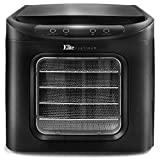 Maxi-Matic Digital Food Dehydrator with BPA-Free Stainless Steel Trays, Adjustable Timer and Temperature Controls with Auto Shut-Off and Overheat Protection, 6, Black