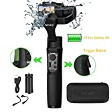 Hohem iSteady Pro 2 3-Axis Splash Proof Handheld Gimbal Stabilizer Gimbal Compatible with DJI Osmo Action, GoPro 2018 7/6/5/4/3, RX0, AEE, SJCAM, YI-CAM, 12 H Run time,Auto Panorama