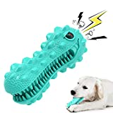 Erocalli Dog chew Toy, Durable Dog Chew Toys for Aggressive Chewers,Dinosaur Dog Teeth Cleaning chew Toys for Medium Large Dogs, Dental Care Squeaky Dog Toy