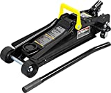 Torin TORT825051 Hydraulic Low Profile Trolley Service/Floor Jack with Single Piston Quick Lift Pump, 2.5 Ton (5,000 lb) Capacity, Black