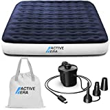 Active Era Luxury Camping Air Mattress with Built in Pump - Queen Air Mattress with USB Rechargeable Pump, Integrated Pillow, Travel Bag - Air Mattress for Tent Camping