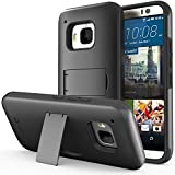 HTC One (M9) Case - VENA [Legacy] Slim Fit Dual Layer Hybrid Case with Kickstand & Screen Protector for HTC One M9 (2015) - Solid Black