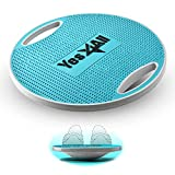 Yes4All Premium Wobble Balance Board/Round Wobble Board – 16.34 inch Plastic Balance Board for Rehabilitation Exercise & Core Strength Training (Sky Blue)