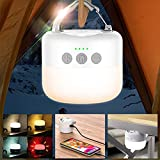 〔6700mAh〕1000LM Camping Lantern Rechargeable,Hanging LED Lights Bulbs,Camping Tent Light,Mini Lantern Flashlight for Emergency, Outdoor,Power Outage, Hiking,Home,Battery Powered.Power Bank Lighting.
