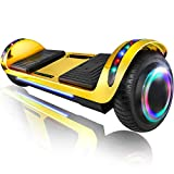 XPRIT 6.5' Hoverboard Self-Balance Two Wheel w/Built-in Wireless Speaker (Chrome Gold)