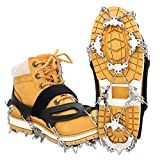 EIVOTOR【Upgraded 24 Spikes】 Walk Traction Ice Cleat Spikes Crampons,Ice Snow Grips for Footwear for Walking, Jogging, Climbing, Hiking on Snow and Ice(XL)