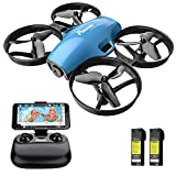 Drone with Camera for Kids, Potensic A30W RC Mini Quadcopter with 720P HD Camera, One Button Take Off/Landing, Route Setting, Gravity Induction and Emergency Stop-Dual Battery
