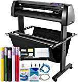 VEVOR Vinyl Cutter Machine 870mm Vinyl Printer, 34 inch Plotter Printer U-Disk Offline with Accessories & Floor Stand Vinyl Cutting Machine Adjustable Force and Speed for Sign Making Plotter Cutter