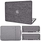 G JGOO Compatible with MacBook Air 13 Inch Case 2021 2020 2019 2018 Release M1 A2337 A2179 A1932 Touch ID, MacBook Air 2020 Case Retina, Fabric Laptop Hard Shell Case + Laptop Sleeve + Keyboard Cover