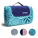 ZOMAKE Picnic Blanket Waterproof Extra Large, Outdoor Blanket with Waterproof Backing for Family Concerts,Beach,Park