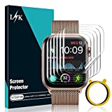 LϟK 6 Pack Screen Protector Compatible for Apple Watch 44mm Series 6 5 4 and Apple Watch SE 44mm with Circle Installation Tool, Bubble Free for iWatch 44MM Flexible TPU Film -Not fit for iWatch Series 3 2 1