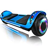 XPRIT 6.5' Hoverboard Self-Balance Two Wheel w/Built-in Wireless Speaker (Chrome Blue, 6.5'' Wheel)