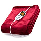 Sable Electric Throw, Heated Blanket Fast-Heating, Full Body Warming ETL Certified, 10 Temperature Settings Auto Off, 50' x 60'