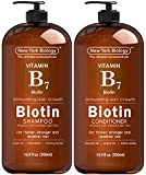 Biotin Shampoo and Conditioner Set for Hair Growth and Volume – Anti Dandruff Thickening Formula for Hair Loss and Thinning Hair – Volumizing and Nourishing – 16.9 fl Oz