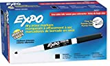 EXPO 86001 Low Odor Dry Erase Marker, Fine Point, Black (Pack of 12)