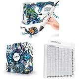 MYNT3D Pro 3D Pen + 32 Color SuperPack PLA + DesignPad Mat Kit