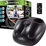 RESTECK Shiatsu Foot Massager Machine with Heat {Remote Control} Deep Kneading Massage Therapy, Air Compression, Relieve Foot Pain from Plantar Fasciitis, Neuropathy & Chronic Nerve Pain
