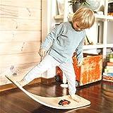 "Avrsol Wooden Wobble Balance Board for Kids, Natural Wood Rocker Board Waldorf Toy Balance Board 36"""