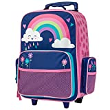 Stephen Joseph Kids' Little Girls Classic Rolling Luggage, Rainbow, One Size