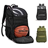 TRAILKICKER 35L Soccer Backpack with Attachable Shoe bag and Ball Compartment, Padded 17' Laptop compartment, Sports backpack for Basketball, Gym, Football & Volleyball