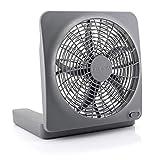 O2COOL Treva 10-Inch Portable Desktop Air Circulation Battery Fan-2 Speed-Compact Folding & Tilt Design-with AC Adapter