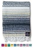 Mexican Blanket   Falsa Blanket   Authentic Hand Woven Blanket, Serape, Yoga Blanket   Perfect Beach Blanket, Navajo Blanket, Camping Blanket, Picnic Blanket, Saddle Blanket, Car Blanket (Sand)