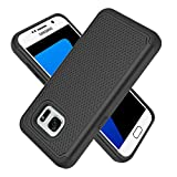UniSpg Samsung Galaxy S7 Edge Case,Galaxy S7 Edge Case | Heavy-Duty Shockproof [Military Grade 10ft. Drop Tested] Hybrid Rubber Dual Layer Armor Defender Protective Cover (Not Samsung S7) [Black]